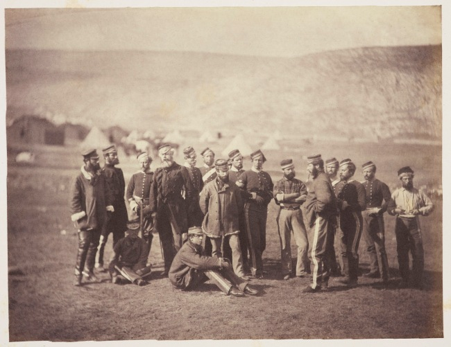 Roger Fenton (1819-69) 'Colonel Doherty and the Officers of the 13th Light Dragoons' 1855