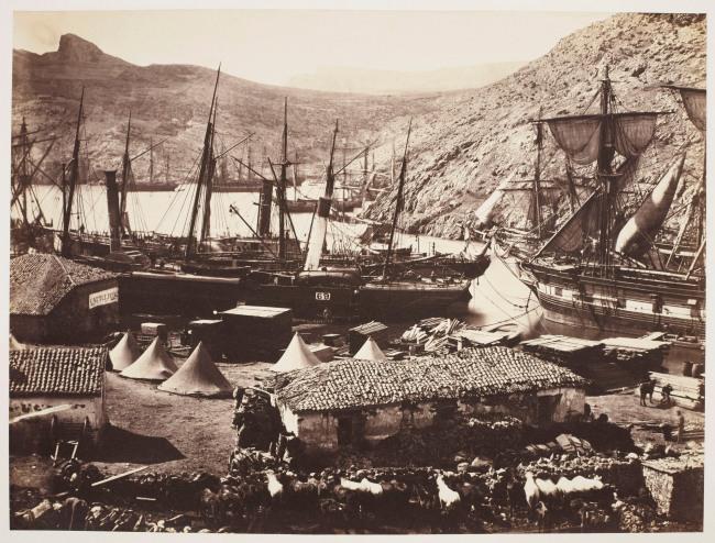 Roger Fenton (1819-69) 'Cossack Bay Balaklava' Mar 1855