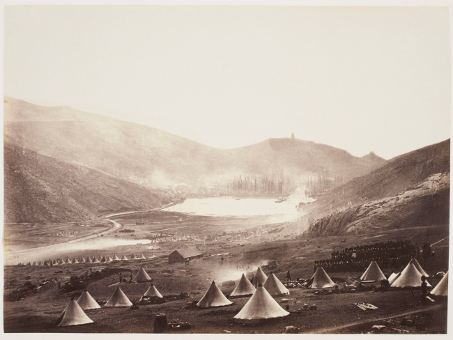 Roger Fenton (1819-69) 'Guards Hill Church Parade Balaklava in the distance' 1855