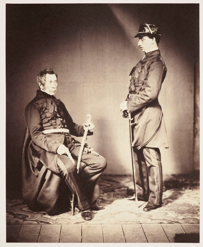 Roger Fenton (1819-69) 'Lieutenant-General Burgoyne and his aide-de-camp Lieutenant Stopford' 1855