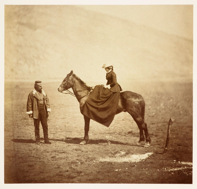 Roger Fenton (1819-69) 'Captain and Mrs Duberly' Apr 1855