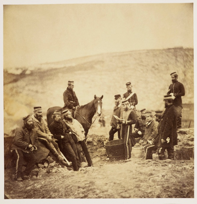 Roger Fenton (1819-69) 'Officers of the 8th Hussars' Apr 1855