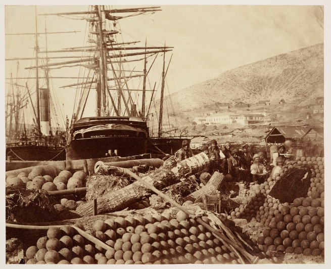 Roger Fenton (1819-69) 'The Ordnance Wharf at Balaklava' Mar 1855