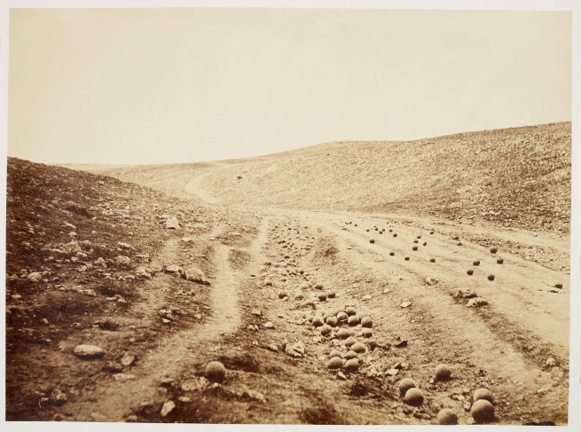 Roger Fenton (1819-69) 'Valley of the Shadow of Death' 23 Apr 1855