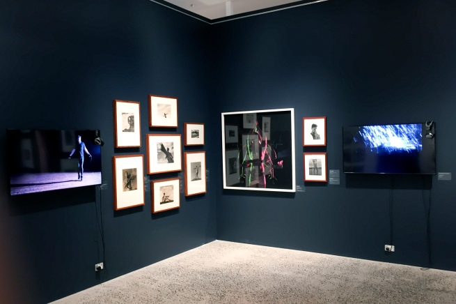 Installation view of the exhibition 'The Unflinching Gaze: photo media and the male figure' at the Bathurst Regional Art Gallery