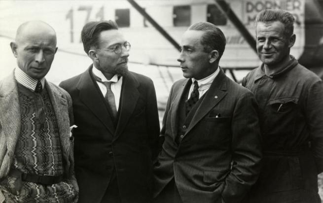 Walter Mittelholzer. 'Die Expeditionsteilnehmer: René Gouzy, Arnold Heim, Walter Mittelholzer, Hans Hartmann' 1926-1927