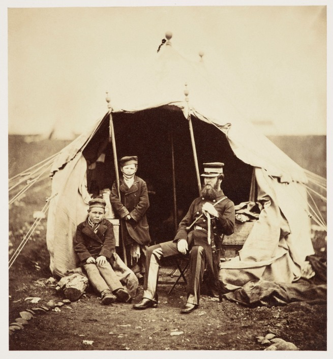 Roger Fenton (1819-69) 'Colonel Brownrigg and the two Russian boys Alma and Inkerman' 1855