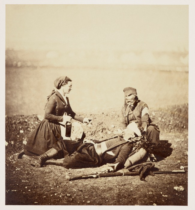 Roger Fenton (1819-69) 'Wounded Zouave and Vivandiere' 5 May 1855