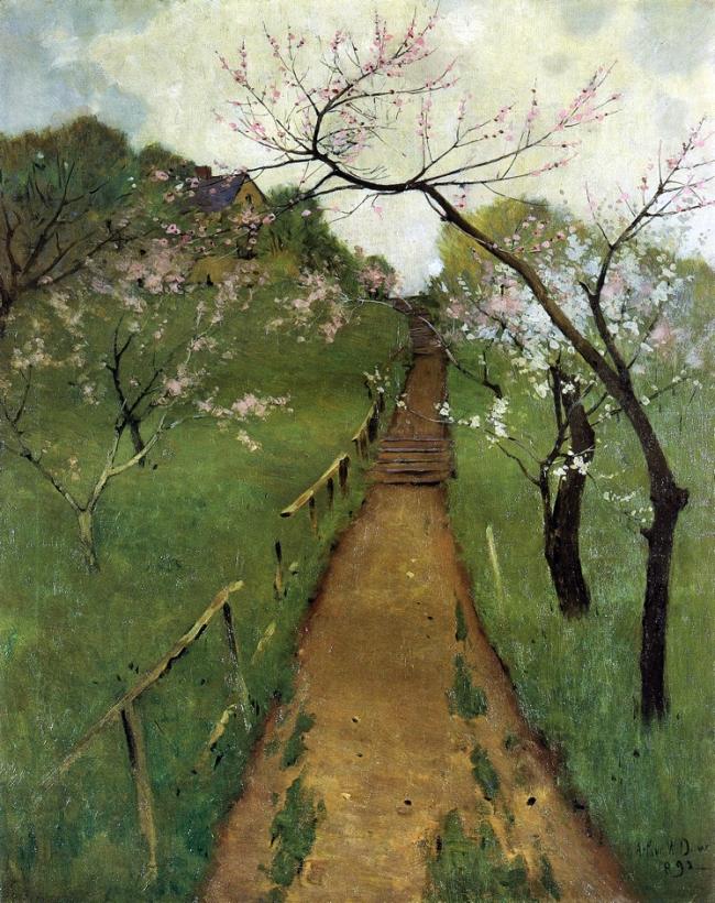 Arthur Wesley Dow. 'Spring Landscape' 1892