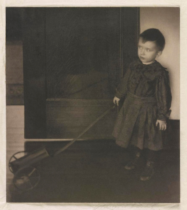 Clarence H. White (American, 1871-1925) 'The Boy with His Wagon [1/3]' 1898