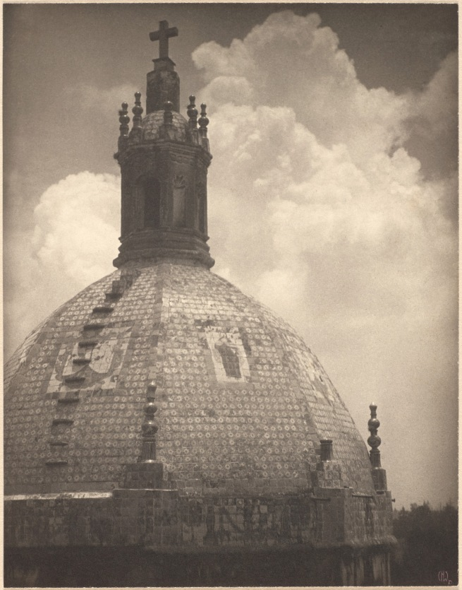 Clarence H. White (American, 1871-1925) 'Untitled [Dome of the Church of Our Lady of Carmen, San Ángel, Mexico]' 1925