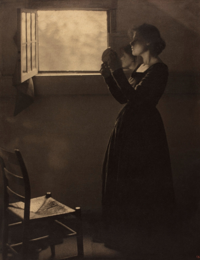 Clarence H. White (American, 1871-1925) 'Girl with Mirror' 1898