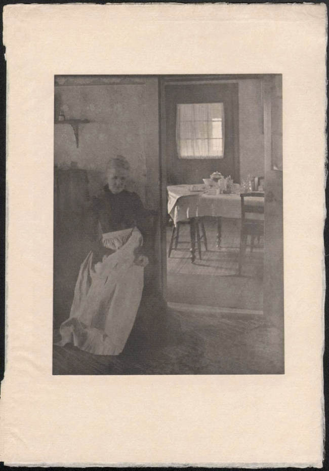 Clarence H. White (1871-1925) 'Mother was living in the old home alone' 1902