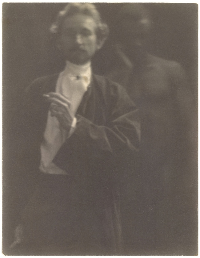 Clarence H. White (American, 1871-1925) 'Untitled [Portrait of F. Holland Day with Male Nude]' 1902