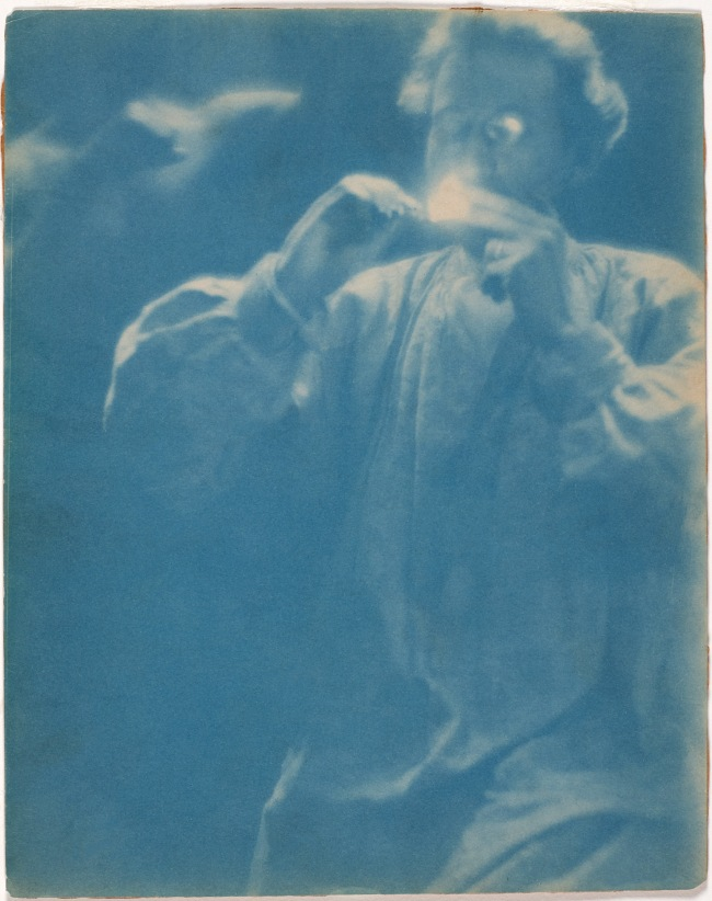 Clarence H. White (American, 1871-1925) 'Untitled [F. Holland Day lighting a cigarette]' 1902