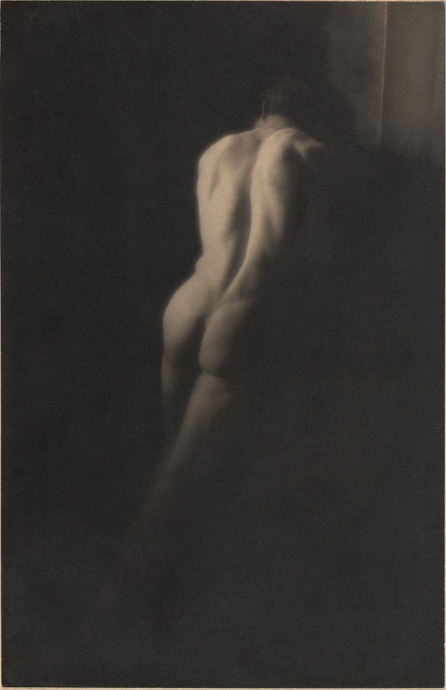 Clarence H. White (American, 1871-1925) 'Untitled [Male academic nude]' c. 1900