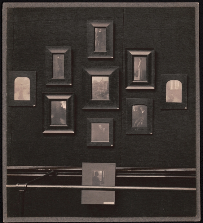 William Herman Rau (1855-1920) 'Untitled [Clarence H. White works in Second Philadelphia Photographic Salon installation]' 1899