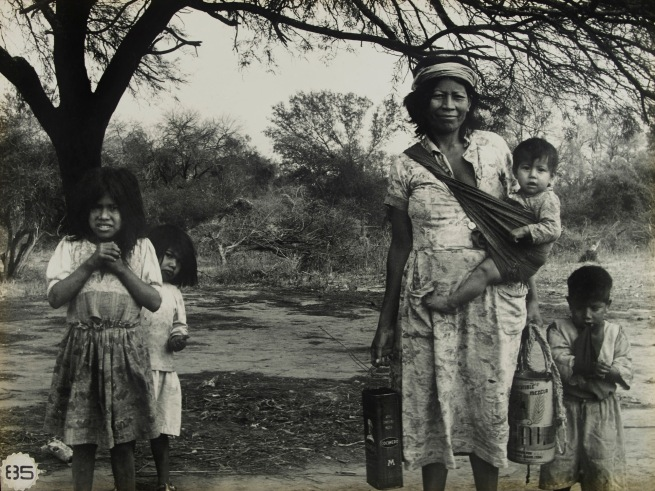 Grete Stern (Argentine, born Germany, 1904-1999) 'Mujer pilagá con sus hijos. Los Lomitas, Formosa' / 'Pilagá Woman with her Kids. Las Lomitas, Formosa' 1964