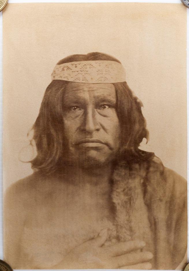 Esteban Gonnet (French, 1830-1868) 'Cacique Tehuelche Casimiro Biguá' /'Tehuelche Chief,Casimiro Biguá' 1864