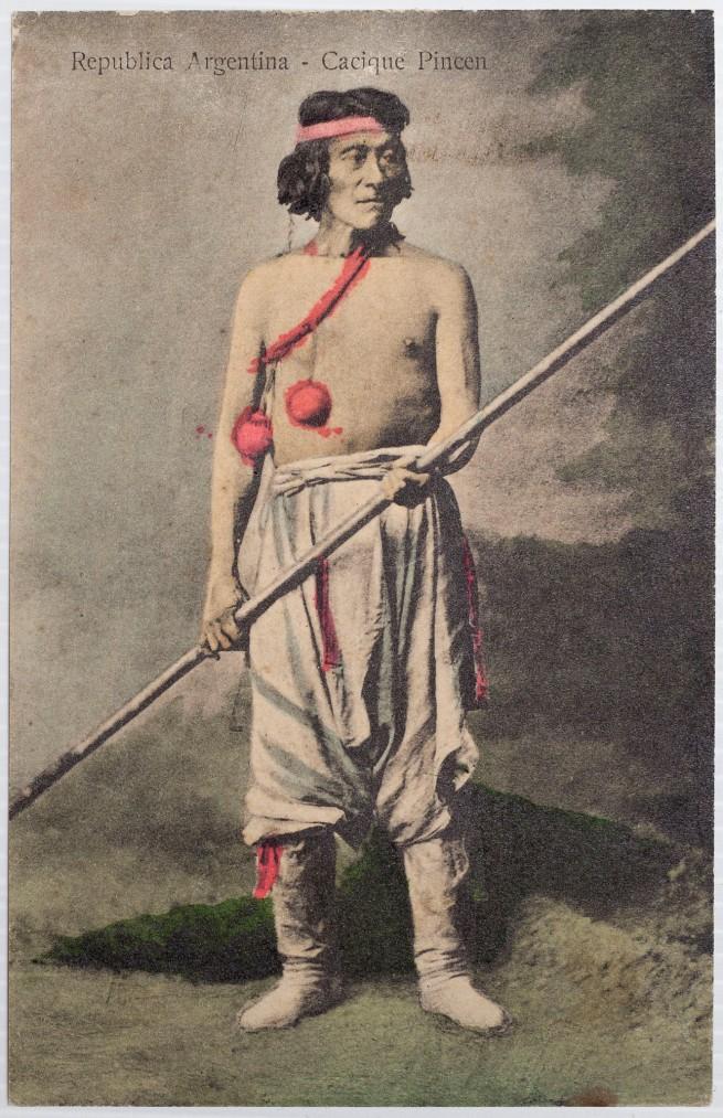 Antonio Pozzo (Argentine, born Italy, 1829-1910) 'Cacique Pincén' (Chief Pincén) negative 1878; print c. 1900