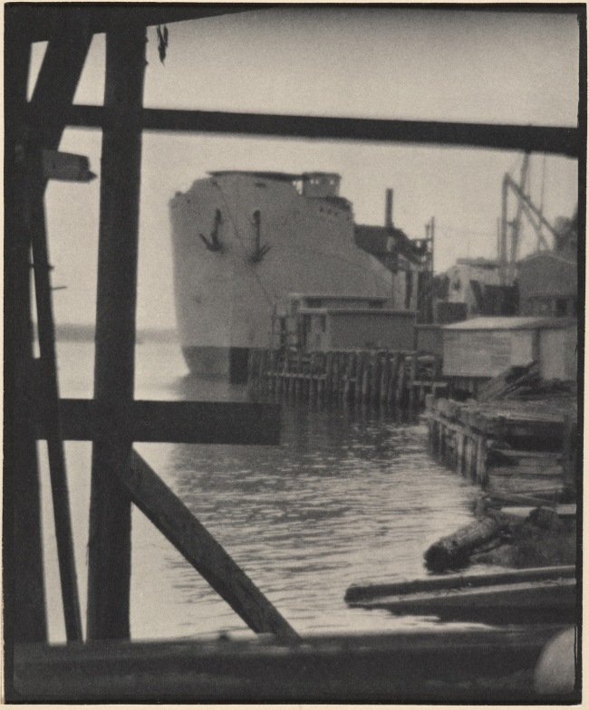 Clarence H. White (American, 1871-1925) Shipbuilding, Bath, Maine 1917