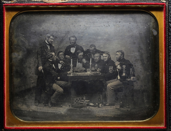 Charles DeForest Fredricks. 'Inmigrantes alemanes en Buenos Aires jugando cartas' / 'German Immigrants in Buenos Aires Playing Cards' c. 1852