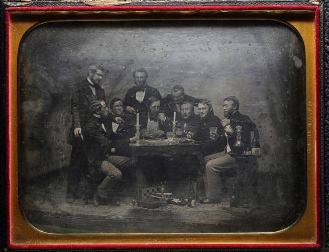 Charles DeForest Fredricks. 'Inmigrantes alemanes en Buenos Aires jugando cartas' / 'German Immigrants in Buenos Aires Playing Cards' c. 1852