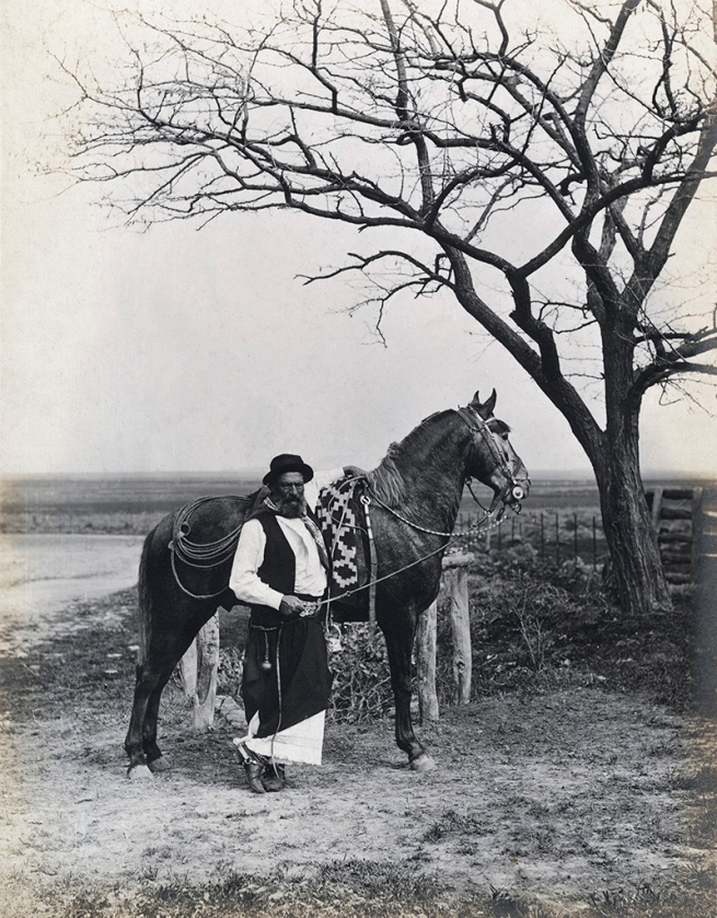 "Francisco Ayerza Estudio para la edición de ""Martín Fierro,"" gaucho con caballo / Study for an edition of Martín Fierro, Gaucho with Horse c. 1890, print about 1900 - 1905"