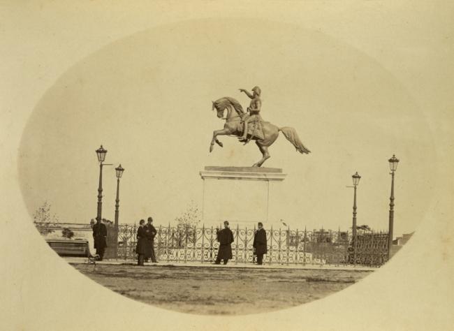Benito Panunzi (Italian, 1835-1896) 'Monument to General San Martín' c. 1860-1869
