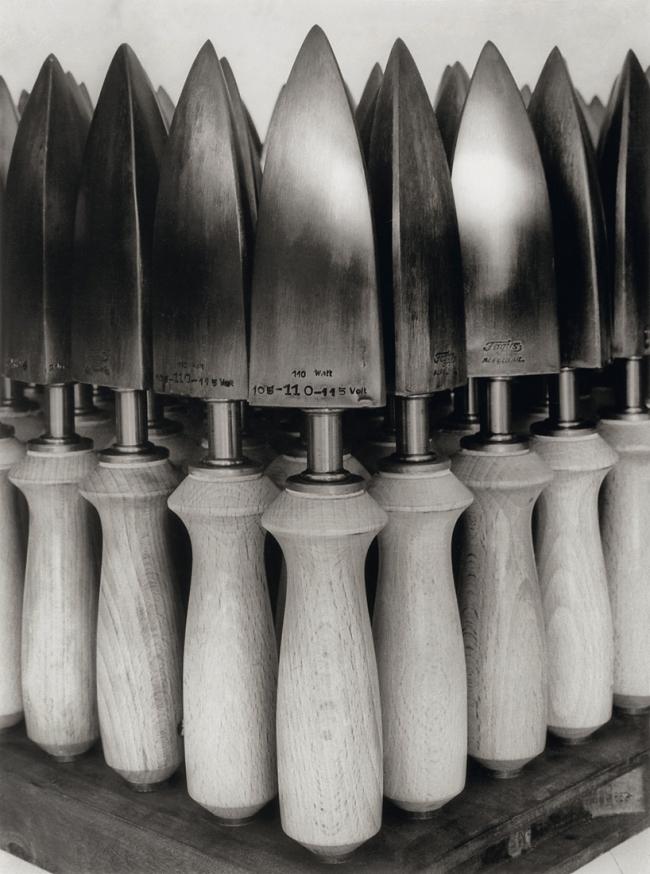 Albert Renger-Patzsch (1897-1966) 'Bügeleisen für Schuhfabrikation,Faguswerk Alfeld [Shoemakers' irons, Fagus factory,Alfeld]' 1928