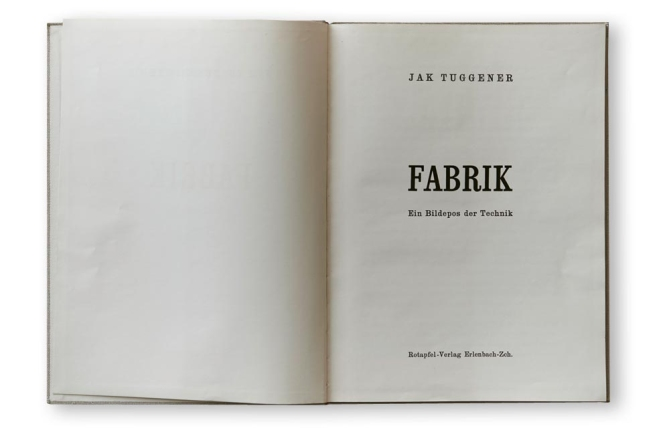 Jakob Tuggener (1904-1988) Page layout from the book 'Fabrik' 1943