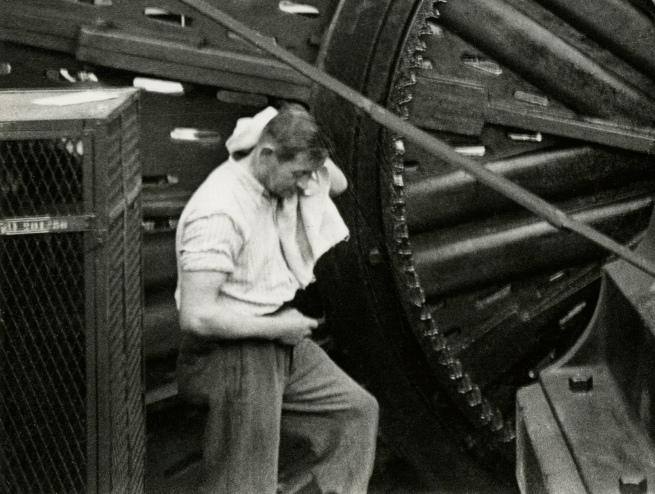 Jakob Tuggener(1904-1988) 'Lathe, Maschinenfabrik Oerlikon' 1949 (detail)