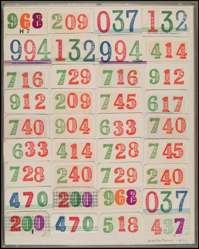 Walker Evans (1903-1975) 'Collage with Thirty-Six Ticket Stubs' 1975