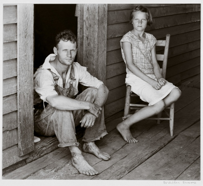 Walker Evans (1903-1975) 'Floyd and Lucille Burroughs, Hale County, Alabama' 1936