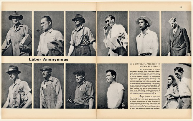 "Walker Evans(1903-1975) '""Labor Anonymous,"" Fortune 34, no. 5, November 1946' 1946"