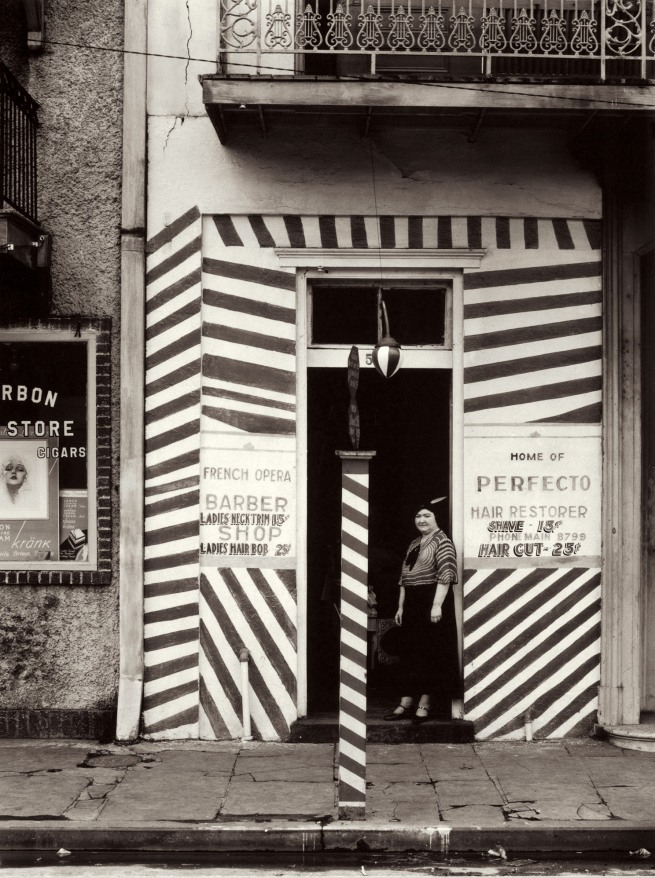 Walker Evans (1903-1975) 'Sidewalk and Shopfront, New Orleans' 1935