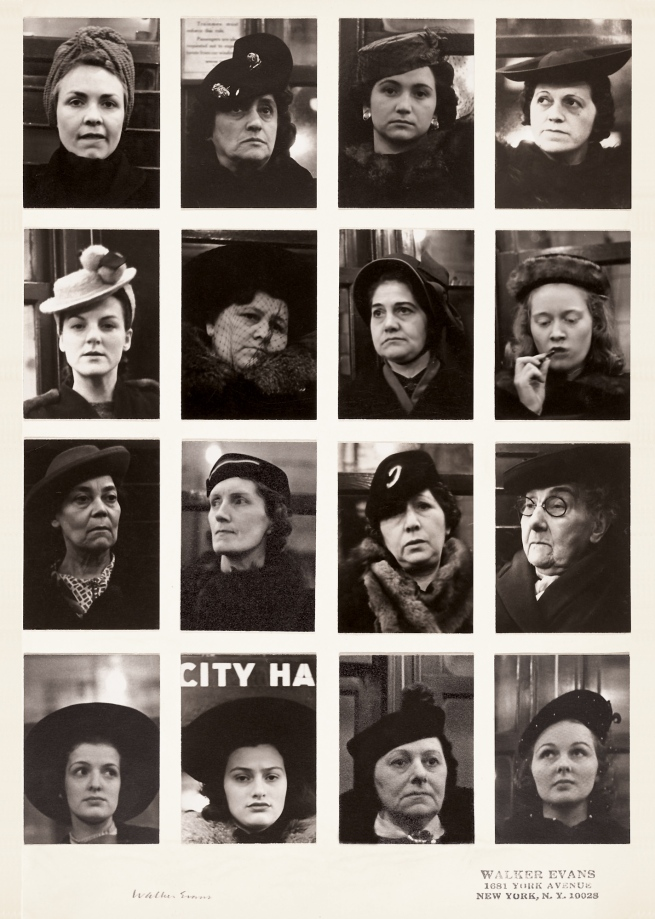 Walker Evans (1903-1975) 'Subway Portraits' 1938-1941
