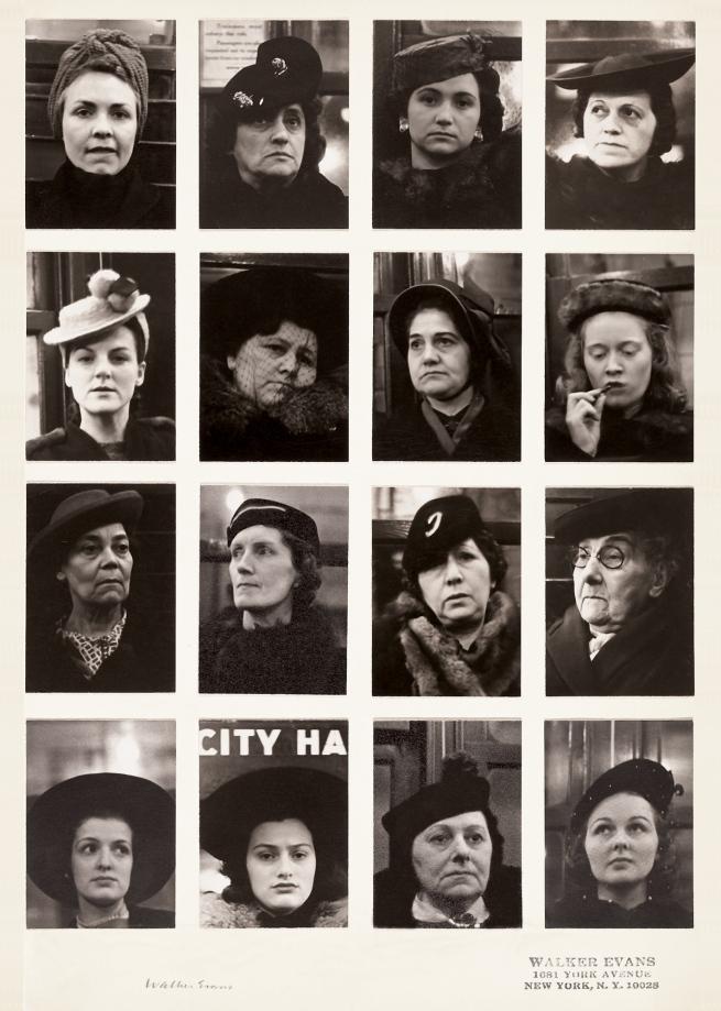 Walker Evans(1903-1975) 'Subway Portraits' 1938-1941