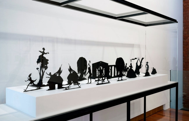 Kara Walker (born in 1969, Stockton, California; lives and works in New York, USA) 'Burning African Village Play Set with Big House and Lynching' 2006
