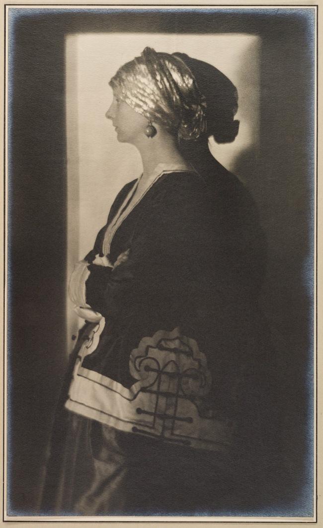 Adolf de Meyer (American (born France), Paris 1868-1946 Los Angeles, California) 'The Silver Cap' c. 1909, printed 1912