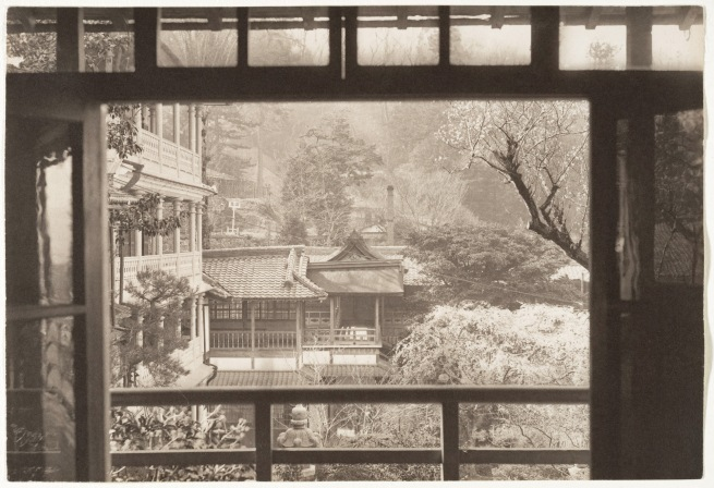 Adolf de Meyer (American (born France), Paris 1868-1946 Los Angeles, California) '[View Through the Window of a Garden, Japan]' 1900