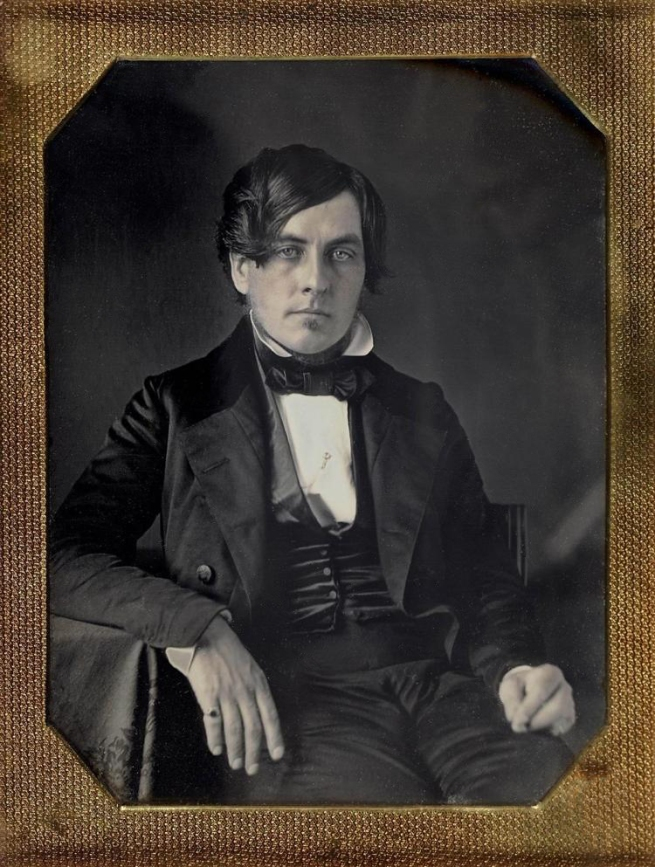 Unknown photographer (American) 'Untitled [Handsome man with fifth finger ring]' c. 1850s
