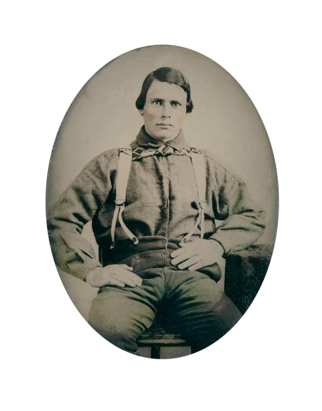 Unknown photographer (American) 'Untitled [Man in button braces]' c. 1850