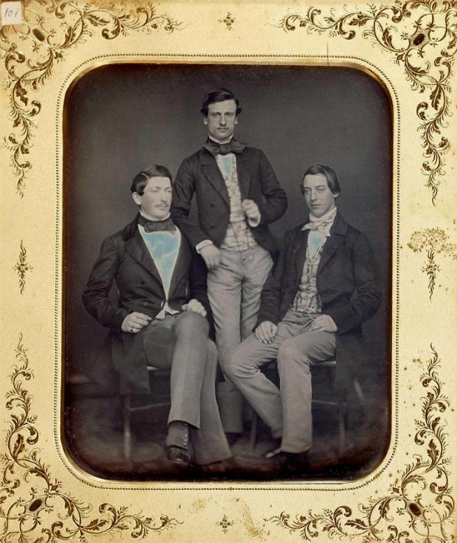Unknown photographer (American) 'Untitled [Group of three men]' c. 1850