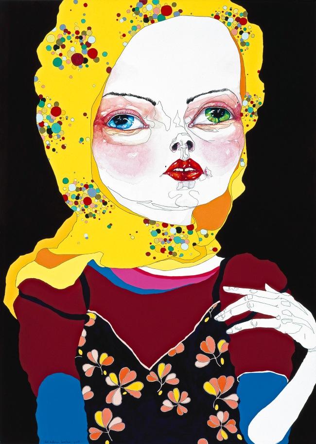 Del Kathryn Barton. 'girl as sorcerery figure' 2005