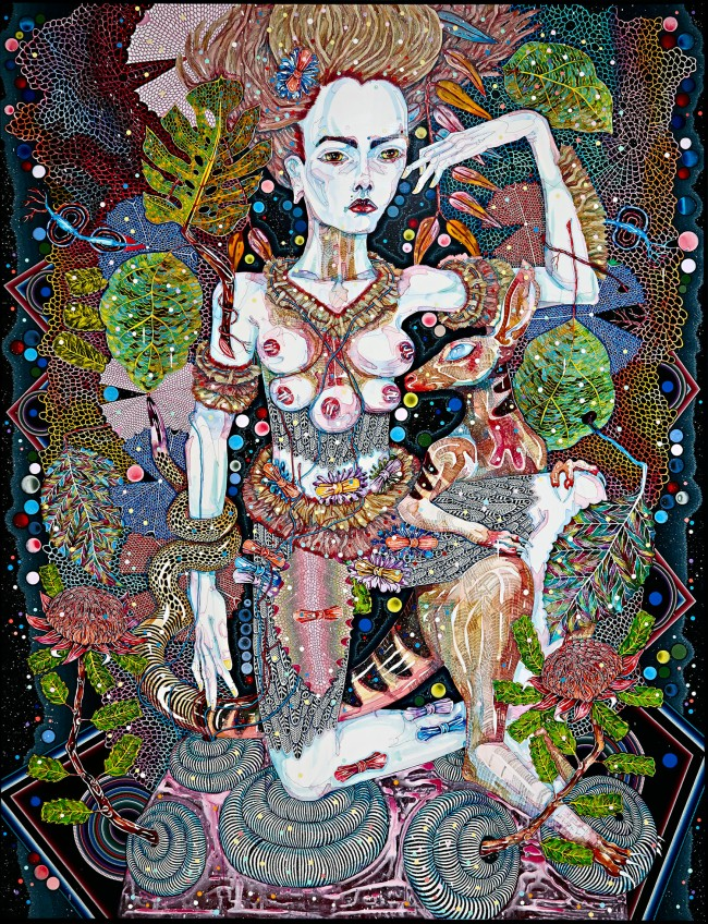 Del Kathryn Barton. 'of pink planets' 2014