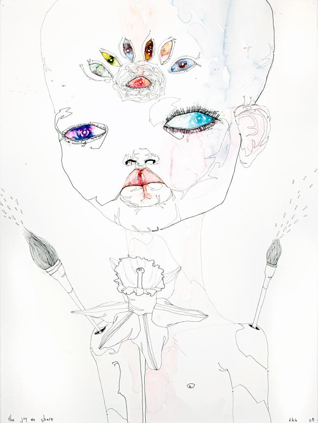 Del Kathryn Barton. 'I am flesh again' 2008 (detail)