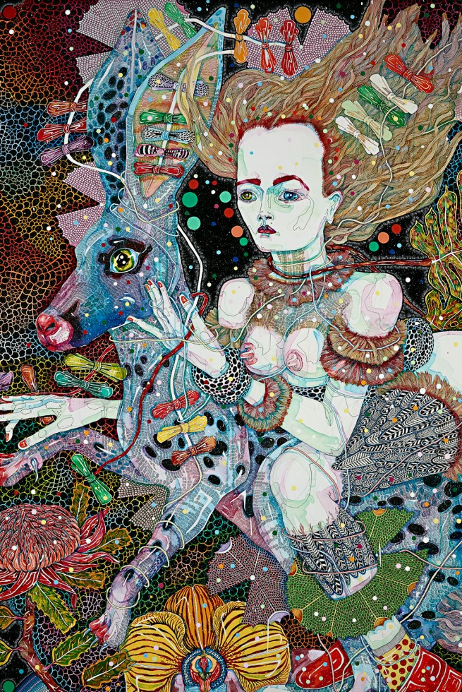 Del Kathryn Barton. 'the highway is a disco' 2015