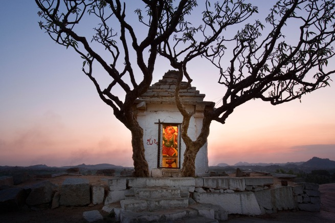 John Gollings 'Hanuman Temple, Hampi, India' 2006