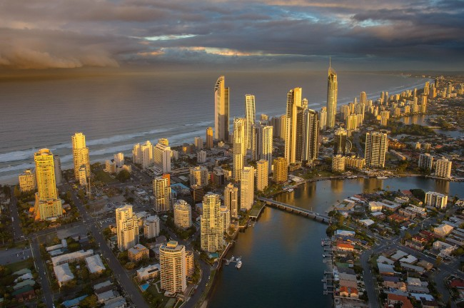 John Gollings. 'Surfers Paradise aerial, Surfers Paradise, Queensland' 2012